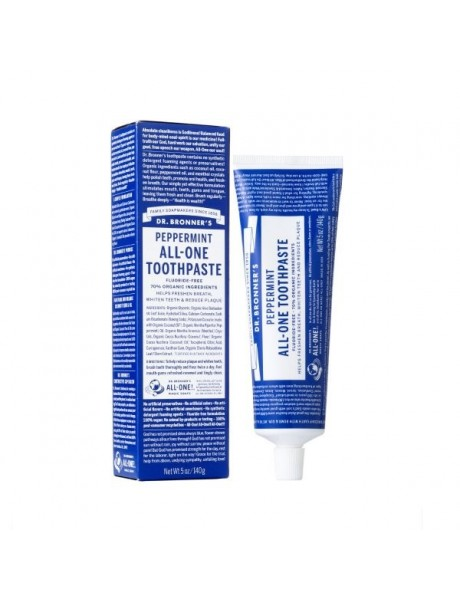 Dentífrico Natura Menta. All-One Toothpaste 140g.-Dr.Bronners